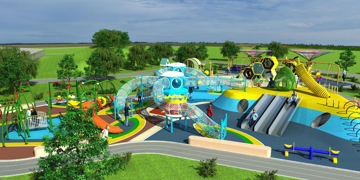 根据场地设计 项目说明:高乐迪是户外儿童乐园设备的设计规划施工业务图片