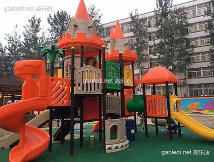哈弗摇篮幼儿园童话城堡组合滑梯