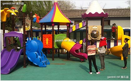 高乐迪与中国音乐学院附属幼儿园合作项目---大型儿童组合滑梯