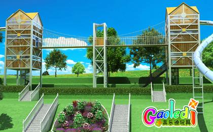 湖北恩施度假村超长超刺激不锈钢滑梯儿童乐园开工