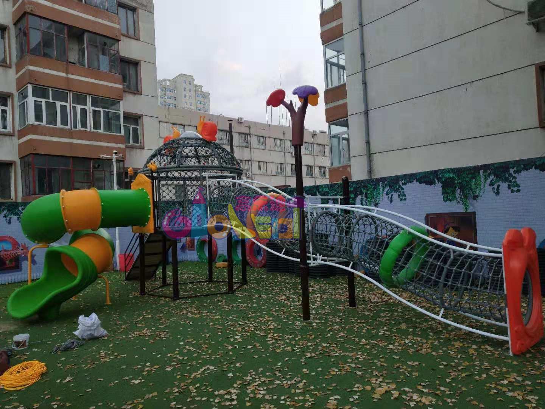 新款幼儿园儿童滑梯-张家口怀来县沙城幼儿园案例