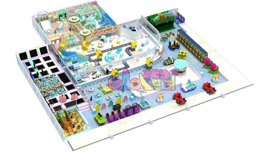 北京通州谷德玛特室内儿童乐园-豆儿儿童乐园完工