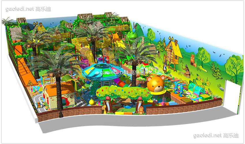 室内儿童乐园加盟-森林淘气堡b-tqb007图片