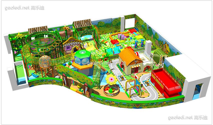 儿童淘气堡加盟-森林主题儿童乐园b-tqb008