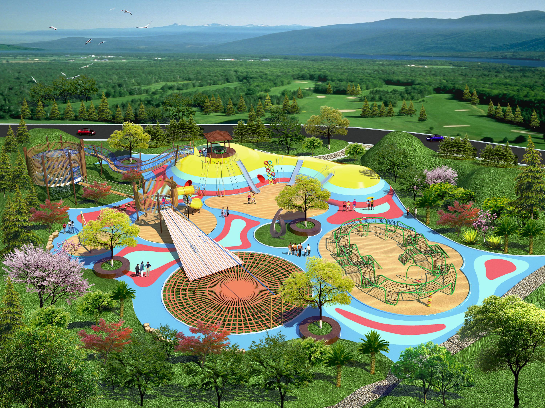 规格型号:根据场地设计 项目说明:高乐迪是大型户外儿童游乐设施的图片
