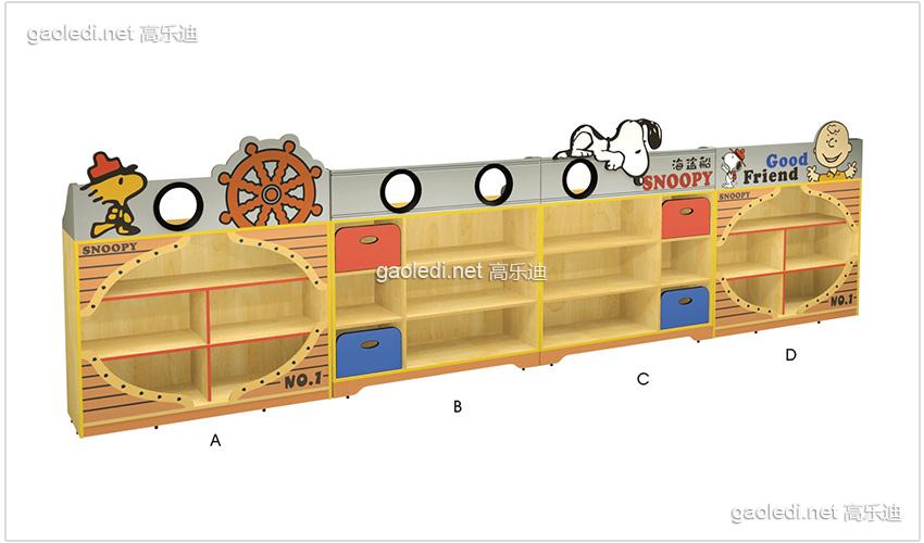 史努比造型玩具柜