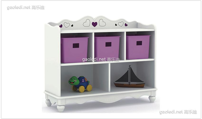 白色贵族5格柜紫