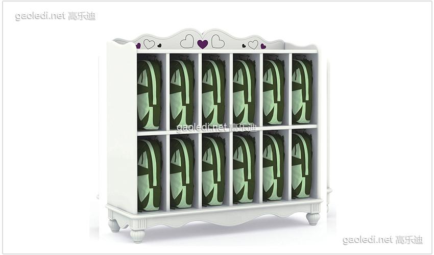 白色贵族12格书包柜