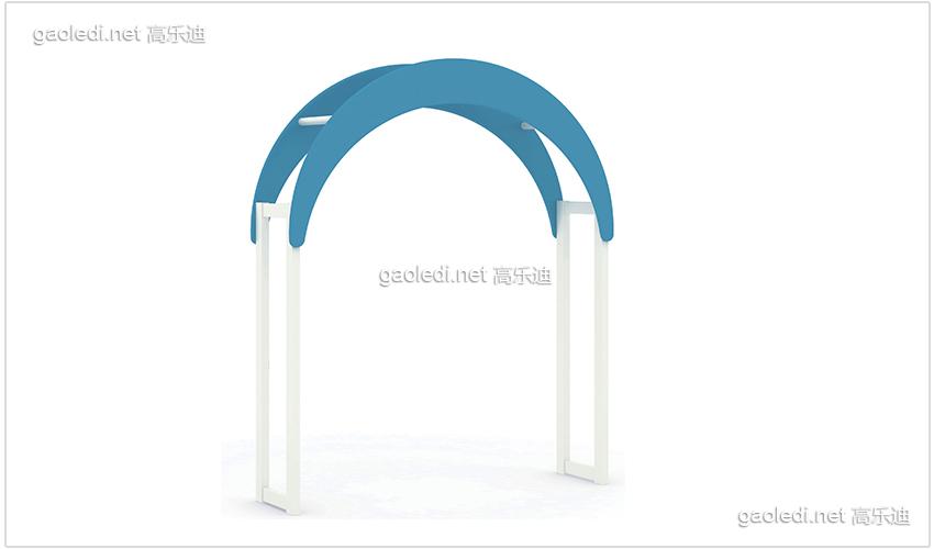 白色贵族拱形门造型
