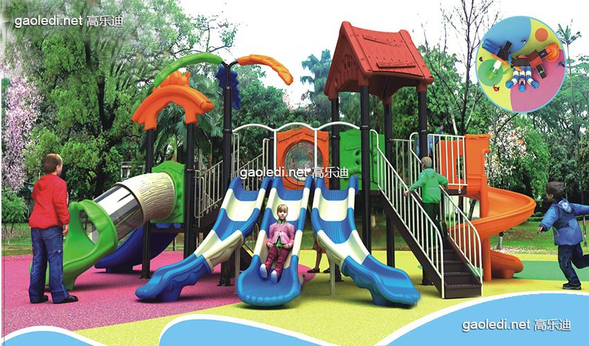 幼儿园滑梯-森林系列A-SL001