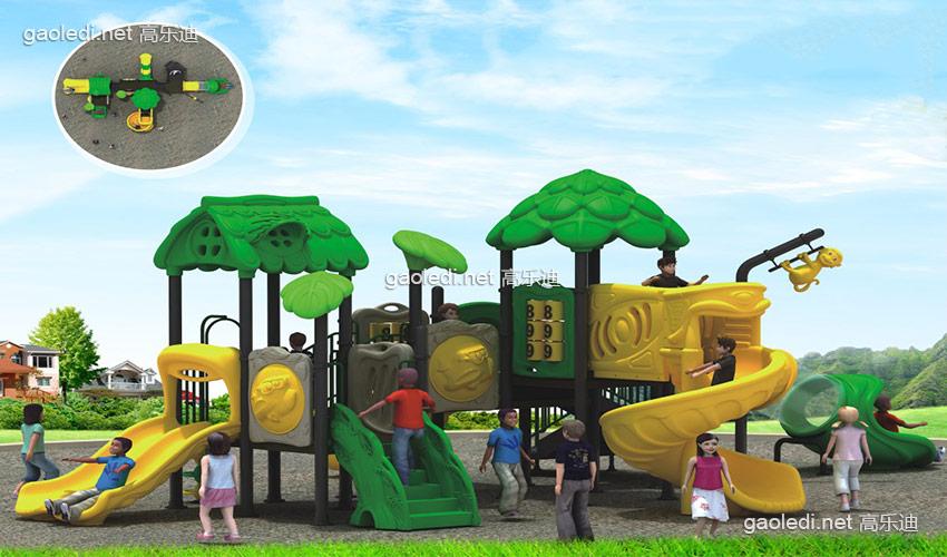幼儿园滑梯-森林滑梯A-SL004