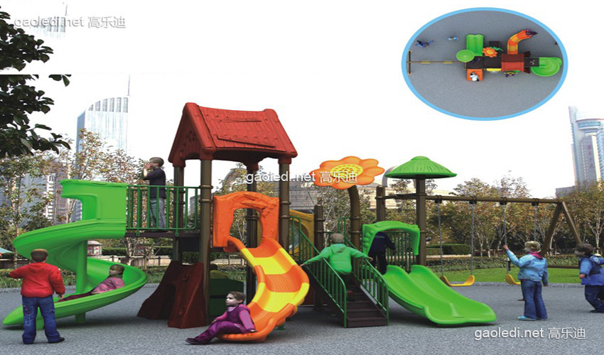 幼儿园滑梯-森林滑梯A-SL005