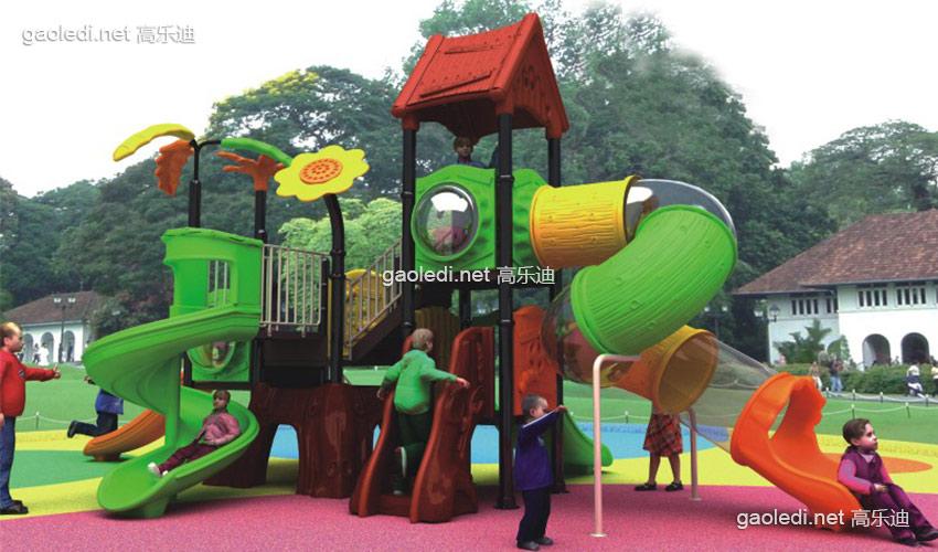 幼儿园滑梯-森林滑梯A-SL006