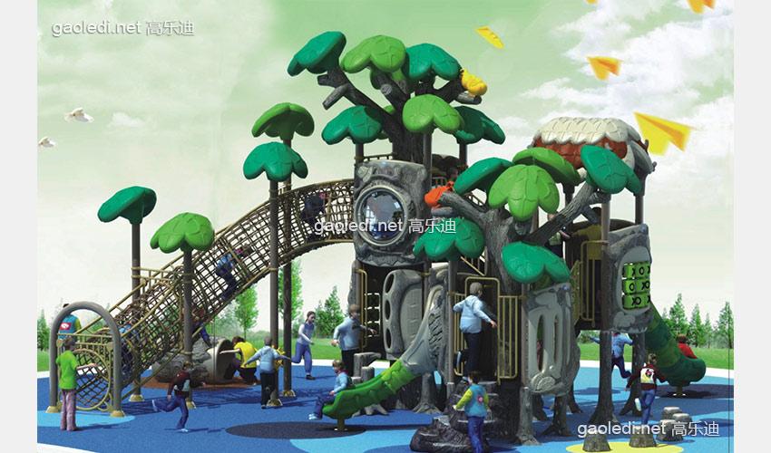 幼儿园滑梯-森林滑梯A-SL049