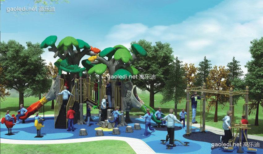 儿童滑梯-森林滑梯A-SL050
