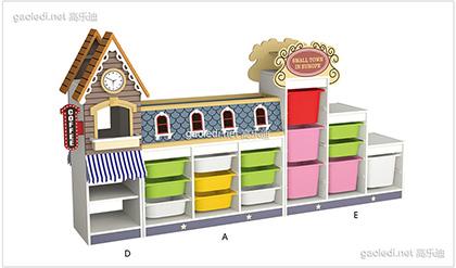 咖啡馆玩具柜
