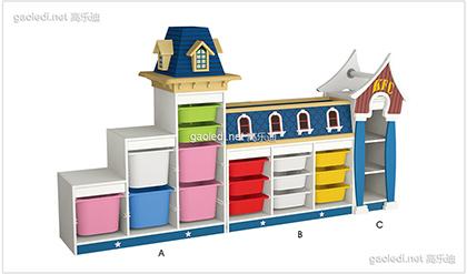 英伦小镇玩具柜