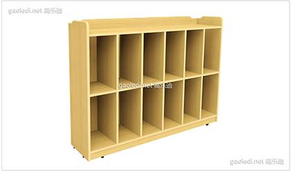 橡木造型书包柜