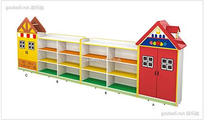 别墅造型玩具柜