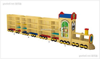 火车造型玩具柜