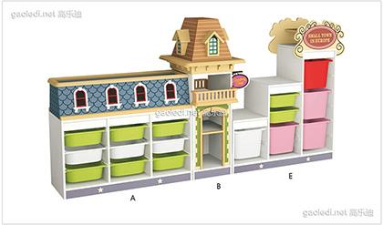 欧洲田园玩具柜