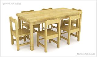 实木桌椅D-SZY006
