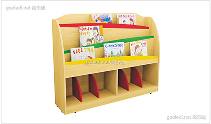 枫木纹造型书架