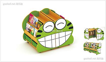 青蛙造型书架