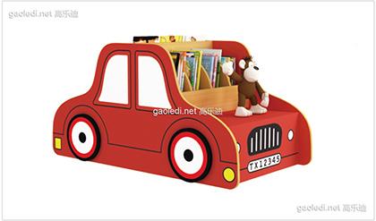 红色小汽车造型书架