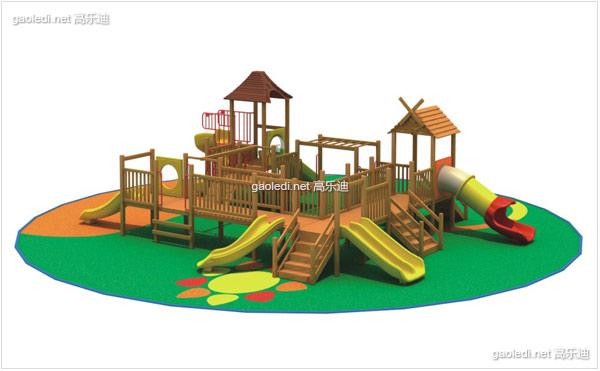 木质滑梯A-MZ016