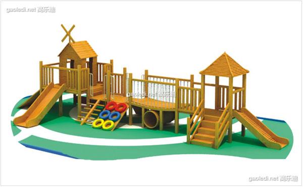 木质滑梯A-MZ014
