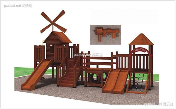 木质滑梯A-MZ015