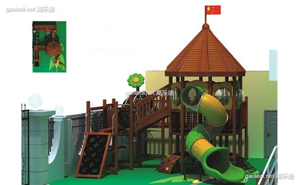 木质滑梯A-MZ009