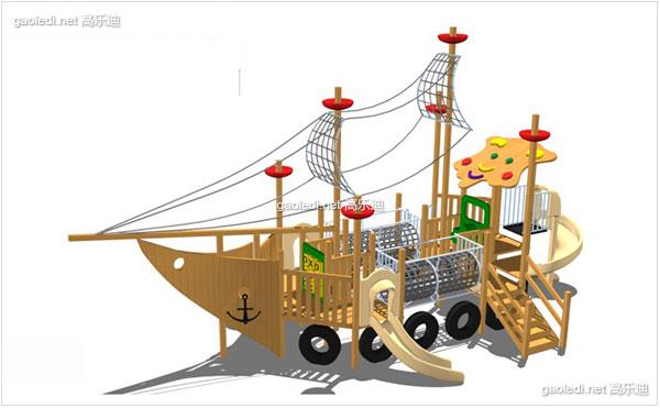 木质滑梯A-MZ007
