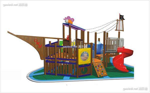 木质滑梯A-MZ008