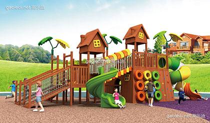 木质滑梯A-MZ001