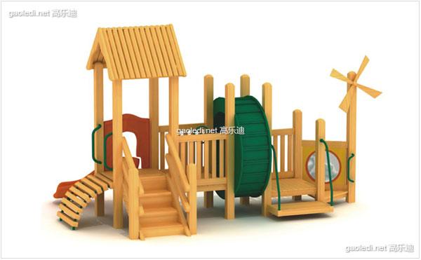 木质滑梯A-MZ013