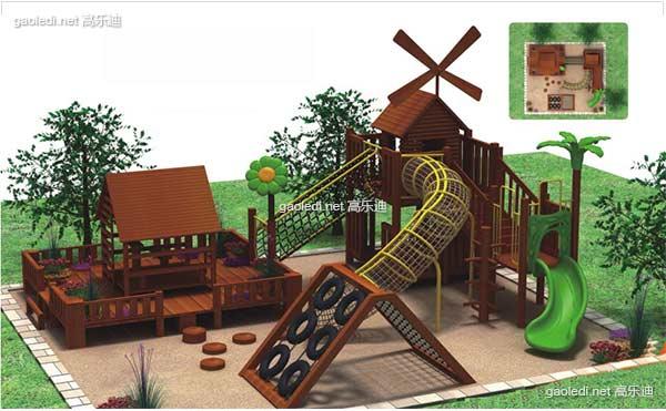 木质滑梯A-MZ004