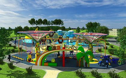户外儿童乐园设备规划图