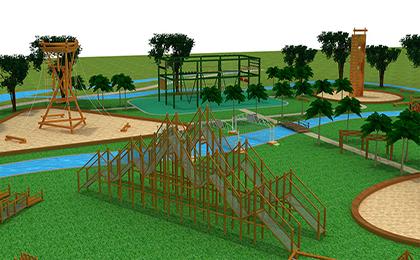 儿童乐园户外设备规划图