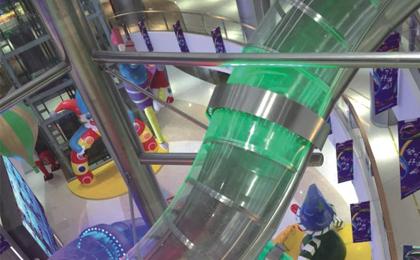 不锈钢旋转滑梯制作