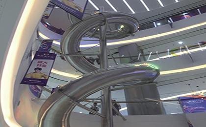 商场不锈钢滑梯