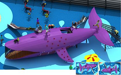 鲨鱼型景观滑梯