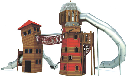 木制滑梯43-66-27