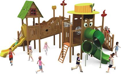 木制滑梯43-66-31