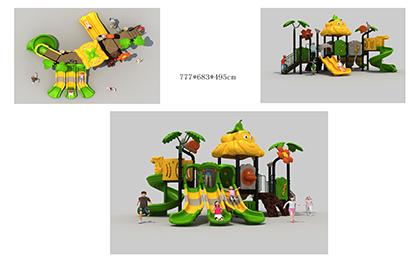 塑料组合滑梯FY065-01