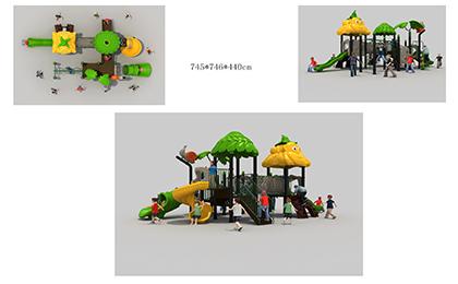 塑料组合滑梯FY065-02