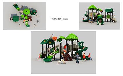 塑料组合滑梯FY066-02
