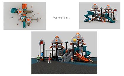 塑料组合滑梯FY078-02