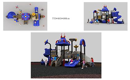 塑料组合滑梯FY081-02